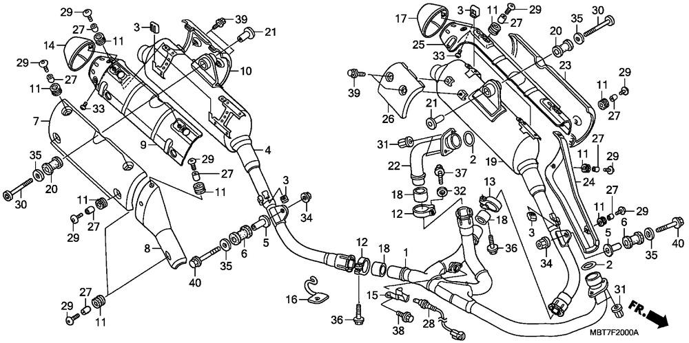 Ex Honda 18291-Mm8-880 Gasket Pipe