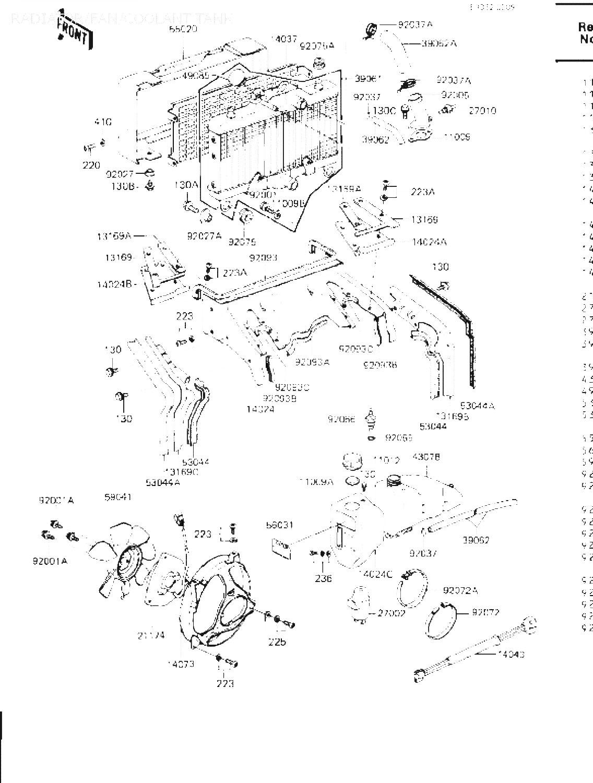 Radiator Fan Coolant Tank 11009 1100 Gaskethose Kawasaki Zn1300 Wiring Harness Frstora Bilden